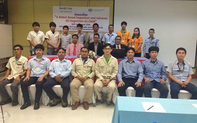 "Verve Limited Company GOP conference ""A robot based instruction and advance 3D inspection on CMM"""