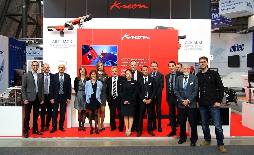 Control trade fair 2017 : Kreon announces two new solutions for both arms and CMMs.